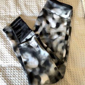Adidas workout pants with mesh leg panels